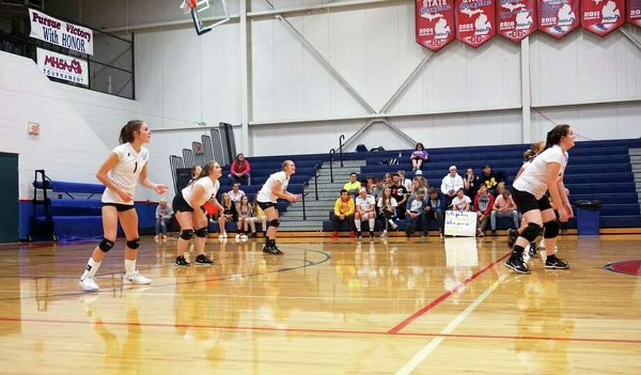 The CCA Cougars volleyball team posted a league record over .500. (File photo)