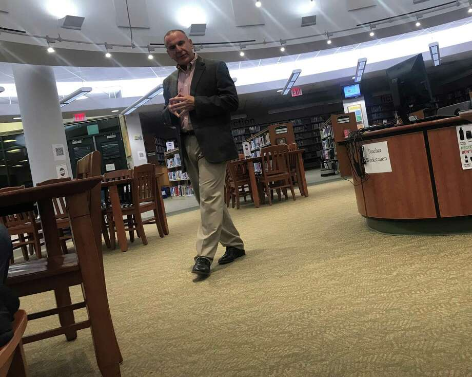 Joseph Erardi, of JE Consulting, held a community forum in Staples High School's library on Monday to discuss the superintendent search. Taken Nov. 25, 2019 in Westport, Conn. Photo: DJ Simmons/Hearst Connecticut Media