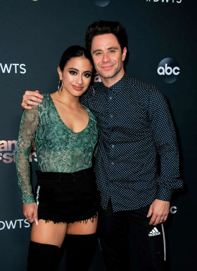 US singer Ally Brooke (L) and Australian professional dancer Sasha Farber attend the Dancing With The Stars - 2019 top 6 finalist event, November 4, 2019, in Los Angeles. (Photo by VALERIE MACON / AFP) (Photo by VALERIE MACON/AFP via Getty Images) Photo: VALERIE MACON / AFP Via Getty Images / AFP or licensors
