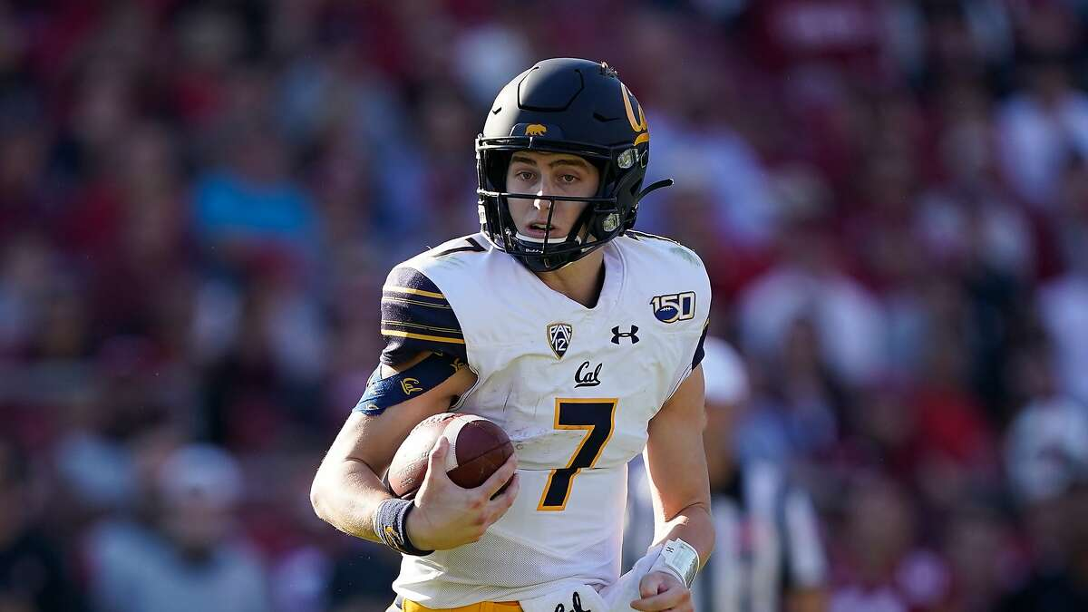 California quarterback Chase Garbers (7) during the first half of an NCAA college football game against Stanford Saturday, Nov. 23, 2019 in Stanford, Calif. (AP Photo/Tony Avelar)