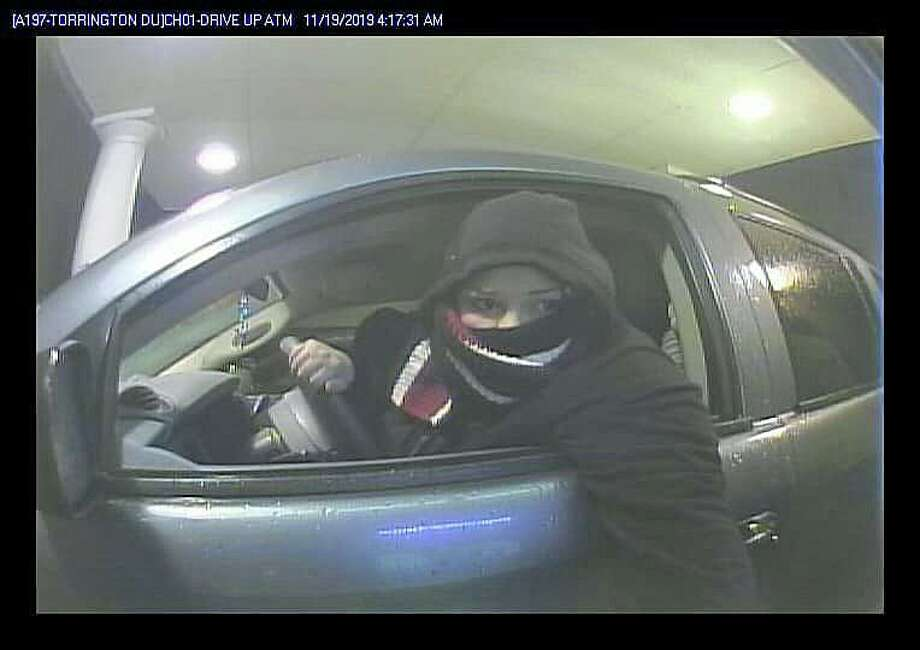 This female suspect attempted to use a debit card which was stolen from a motor vehicle on Scoville Hill Road in Harwinton. Photo: State Police Photo