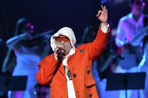 LAS VEGAS, NEVADA - NOVEMBER 14: Bad Bunny performs onstage during the 20th annual Latin GRAMMY Awards at MGM Grand Garden Arena on November 14, 2019 in Las Vegas, Nevada. (Photo by Kevin Winter/Getty Images for LARAS)