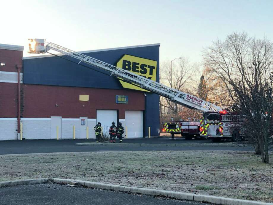 Danbury fire crews responded to a report of a gas leak at the Best Buy near Eagle Road, Tuesday morning, Nov. 26. Photo: Contributed / Danbury Fire Department