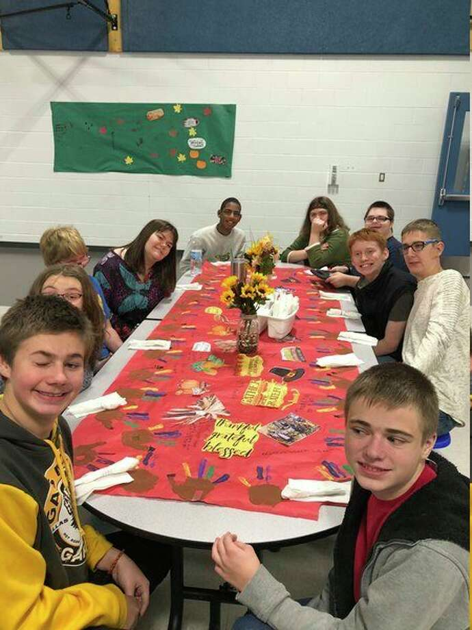 Mecosta-Osceola Intermediate School District Education Center students are pictured at the school's annual harvest dinner Nov. 22. (Courtesy photo)