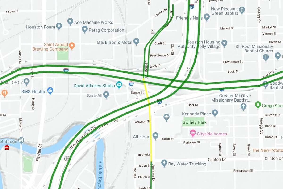 69 Eastex northbound Connector Ramp to IH-10 westbound Total Closure, Closed until further notice Detour: Via IH 69 northbound to the IH 610 North Loop. Follow the IH 610 North Loop westbound to IH 10 westbound.