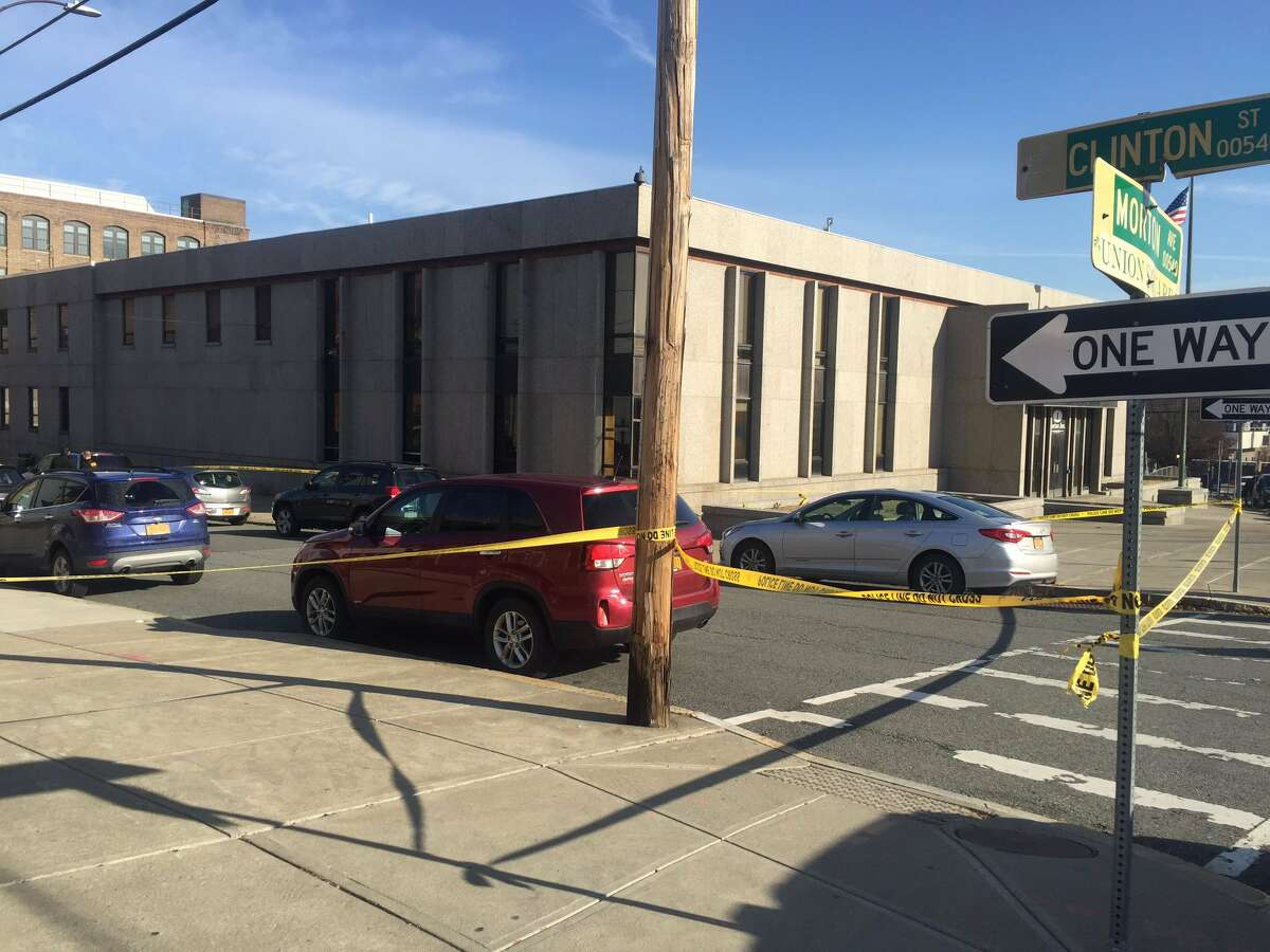 A man was found dead inside an SUV parked outside the Police Department's South Station on Tuesday. Police said it appears the dead man shot himself though it is unknown when he died.