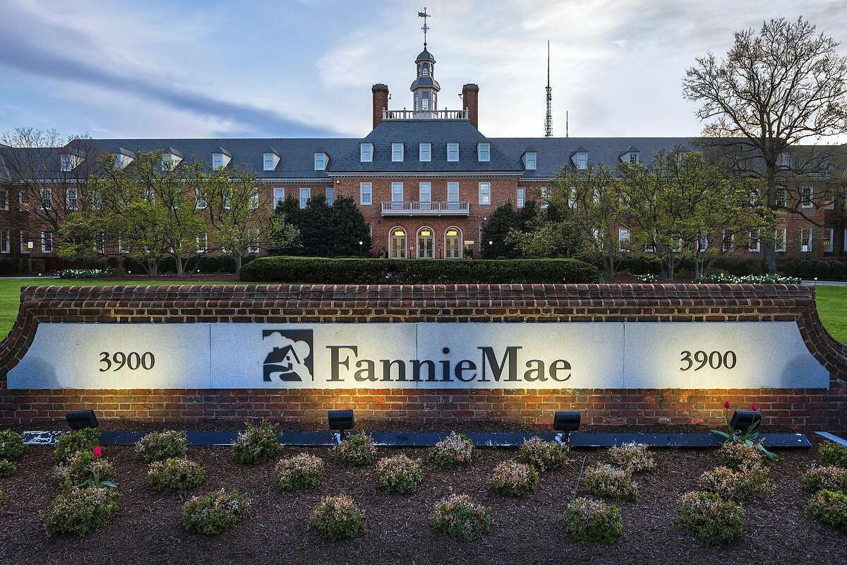 FILE- This April 21, 2018, file photo shows the Fannie Mae headquarters building in Washington. Fannie Mae reports financial earns on Thursday, Oct. 31, 2019. (AP Photo/J. David Ake, File)