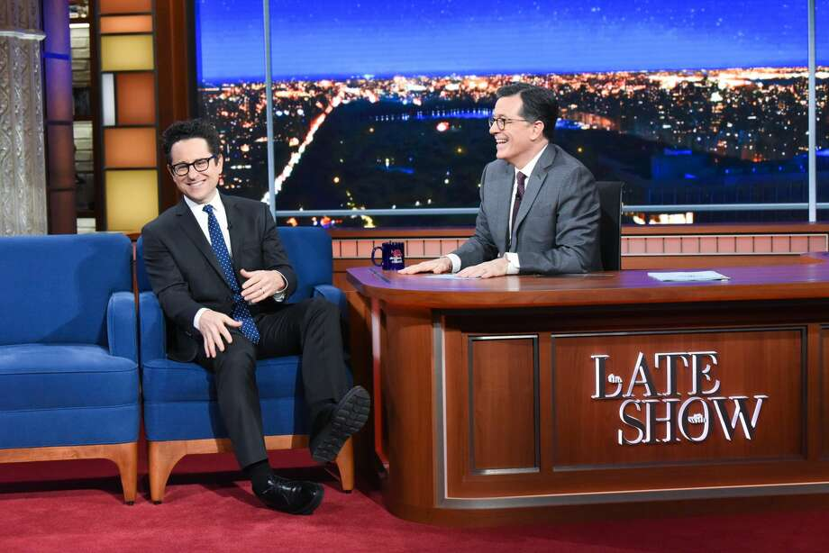 The Late Show with Stephen Colbert and guest J.J. Abrams during Monday's November 25, 2019 show. Photo: CBS Photo Archive/CBS Via Getty Images