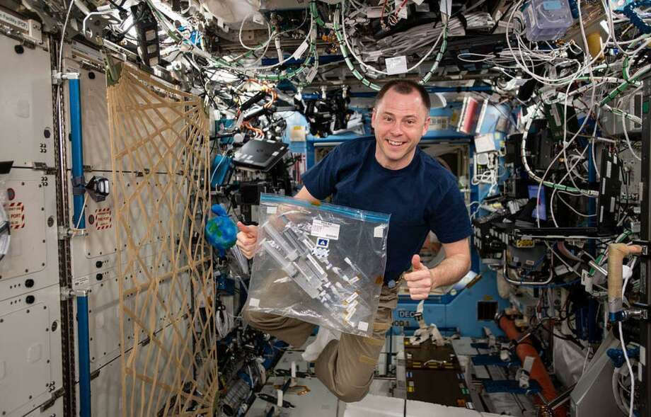Friendswood resident Nick Hague said that it took a couple of days to relearn balance after he returned to Earth from a mission aboard the International Space Station. Photo: Courtesy