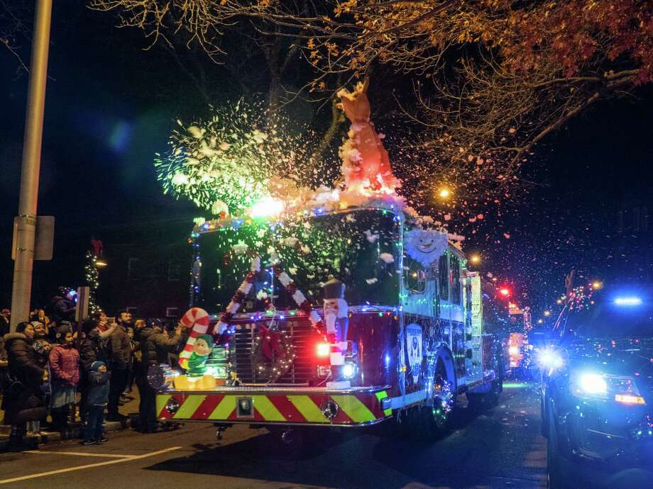 CityCenter Danbury will kick off the holiday season December 7 with the annual Light the Lights celebration, which includes the 5th annual lighted fire truck parade down Main Street. Photo: CityCenter Danbury / Contributed Photo