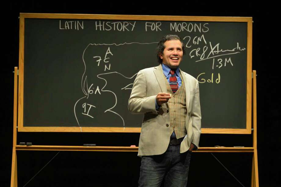 Award-winning playwright and performer John Leguizamo gives a dramatic history lesson. Photo: Kevin Berne / Berkeley Repertory Theatre / © 2014 Kevin Berne images