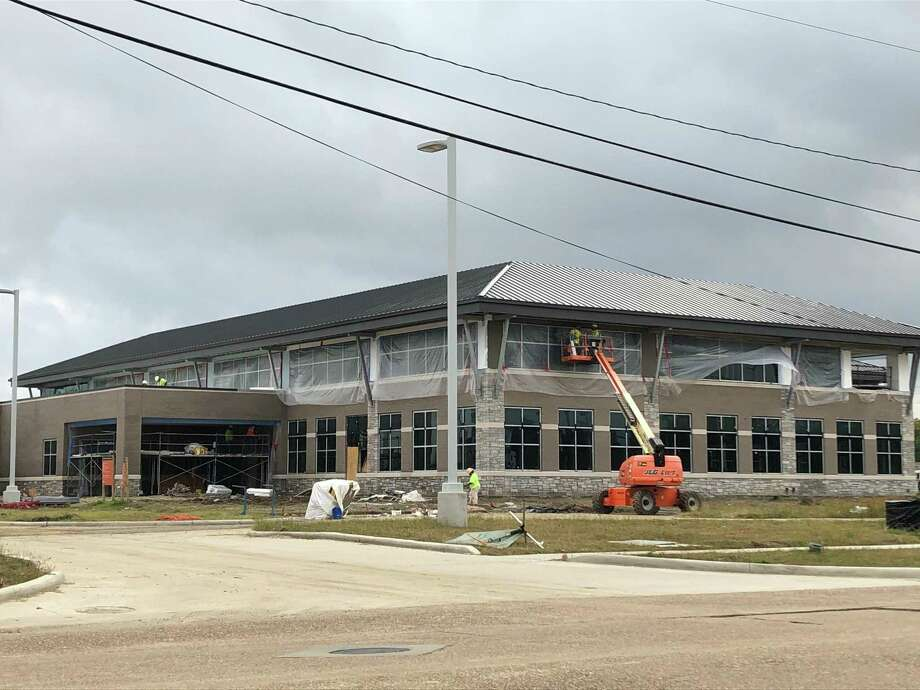 The new headquarters for Neches Federal Credit Union is on track to finish construction in April, creating new space for staff and new branch options for customers. Photo: Jacob Dick