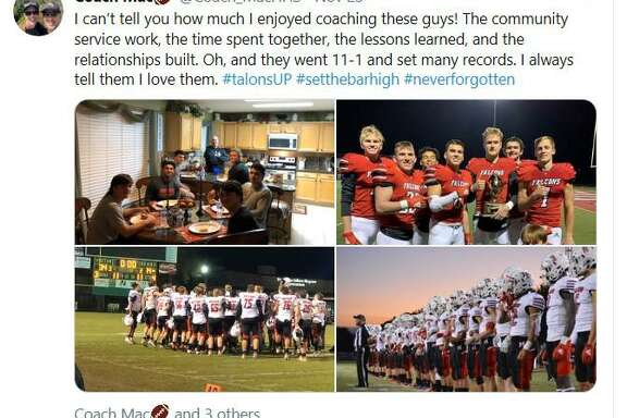 "Mike ""Mac"" McEachern was the coach of the 2019 Hargrave Falcon football team"