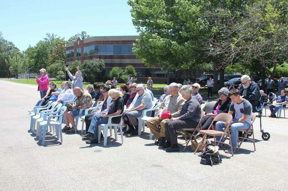 Dozens of people gathered Thursday on Boothe St. in Cleveland for National Day of Prayer. The event is hosted by the Cleveland Ministerial Alliance. Photo: Vanesa Brashier / Vanesa Brashier