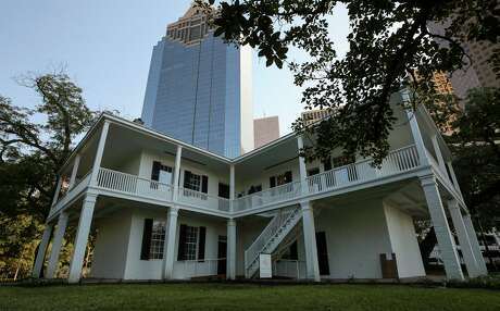 The Kellum-Noble House at Sam Houston Park in downtown Houston was built in 1847.
