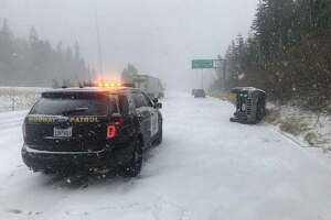 All eastbound I-80 traffic is being held at Alta due to multiple crashes, the California Highway Patrol's Gold Run office said.