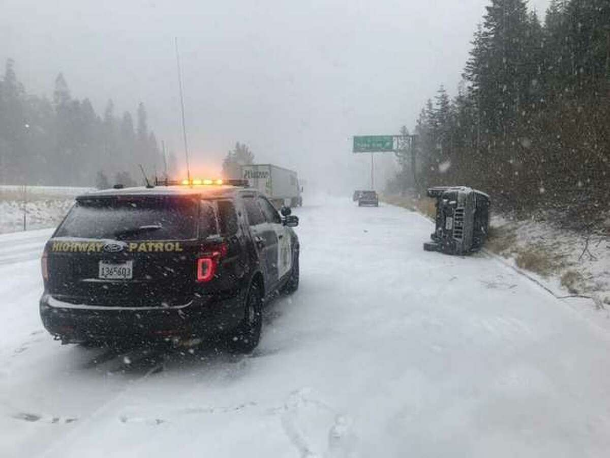 I-80 was closed in both directions due to multiple crashes and heavy snow Tuesday afternoon, the California Highway Patrol's Gold Run office said.
