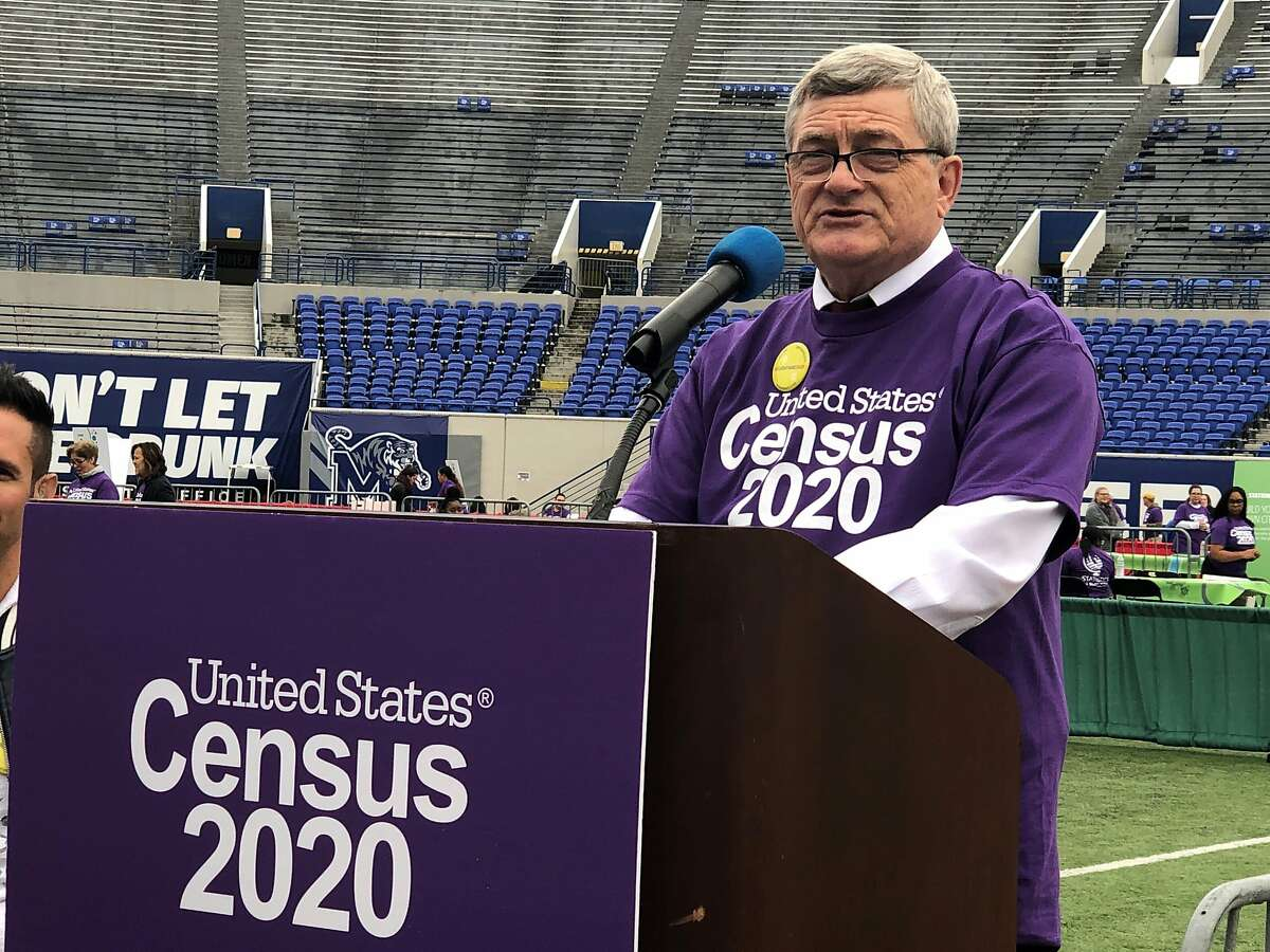 U.S. Census Bureau Director Steven Dillingham speaks at an event launching the 2020 Census Statistics in Schools program on Monday, Oct. 28, 2019, in Memphis, Tenn. Census officials launched a nationwide program that uses schools to encourage participation in the once-per-decade head count. (AP Photo/Adrian Sainz)