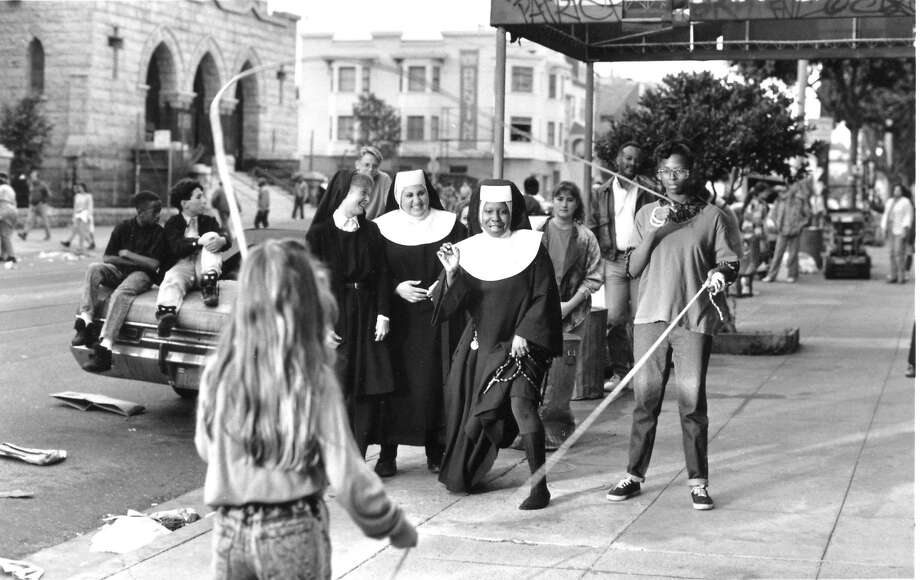 "Top: ""Sister Act"" stars Whoopi Goldberg as a singer who sees a killing and hides out with nuns in San Francisco's St. Paul's Catholic Church. Photo: Buena Vista Pictures 1992"