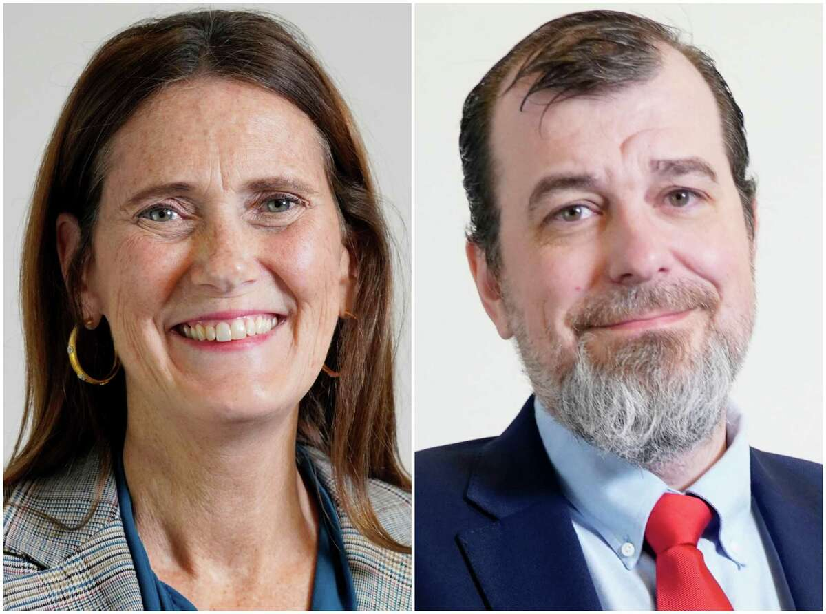 Sallie Alcorn, left, and Eric Dick, right, are candidates for Houston City Council At-Large Position 4.