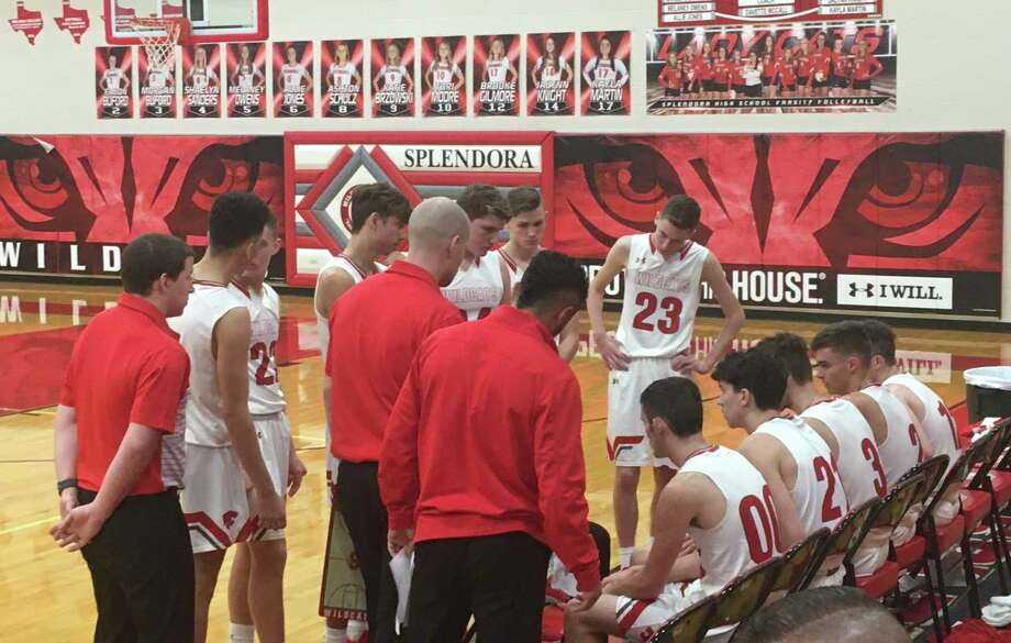 Splendora takes a timeout during the fourth quarter against Porter on Tuesday, Nov. 26, 2019 at Spendora High School. Photo: Rob Tate / Staff Photographer