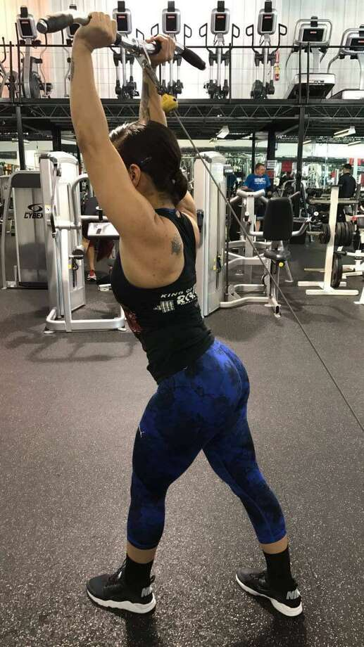 Mandy at Rock Fitness Photo: TAMIU Health And Physical Activity Club