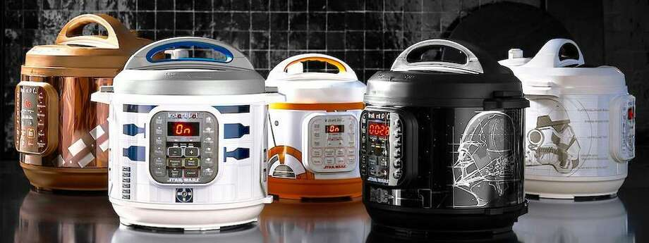 Cook with Chewbacca, R2-D2, BB-8,  Darth Vader and Stormtrooper Instant Pots. Photo: Williams Sonoma