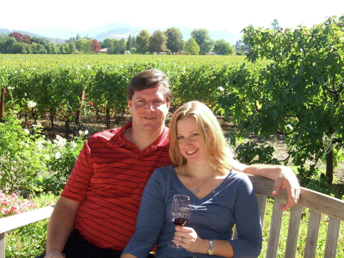 Gary and Amy Gross in Napa Valley in 2009. It was on this trip that Amy Gross got the idea for VineSleuth.