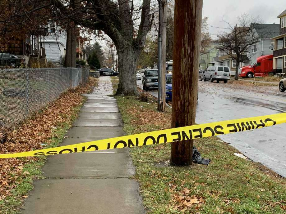 Mill Hill Avenue between Barnum Avenue and Ford Place was closed for several hours after a fatal shooting on Friday, Nov. 22, 2019. Photo: Tara O'Neill /Hearst Connecticut Media