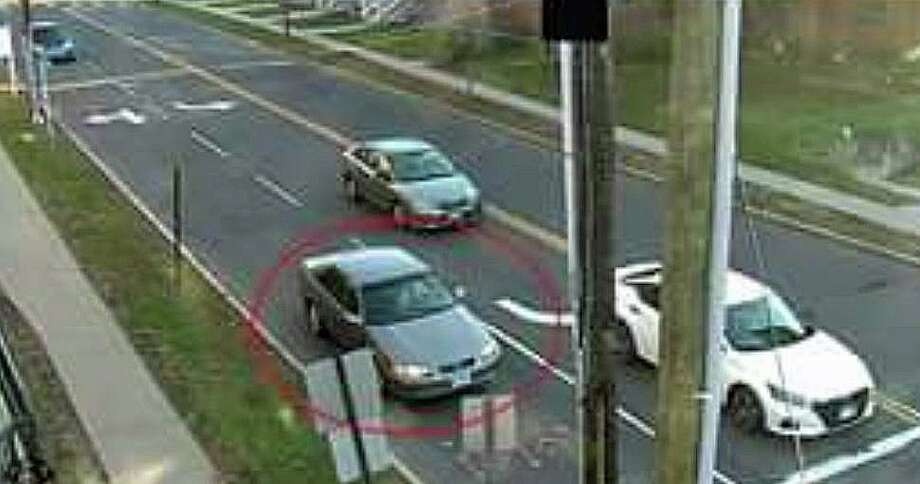 Police are looking for the motorist who apparently intentionally struck a vehicle with a student driver behind the wheel earlier this month. Police are looking for the driver of gray four-door Toyota with right front damage to the vehicle. Photo: Middletown Police Photo