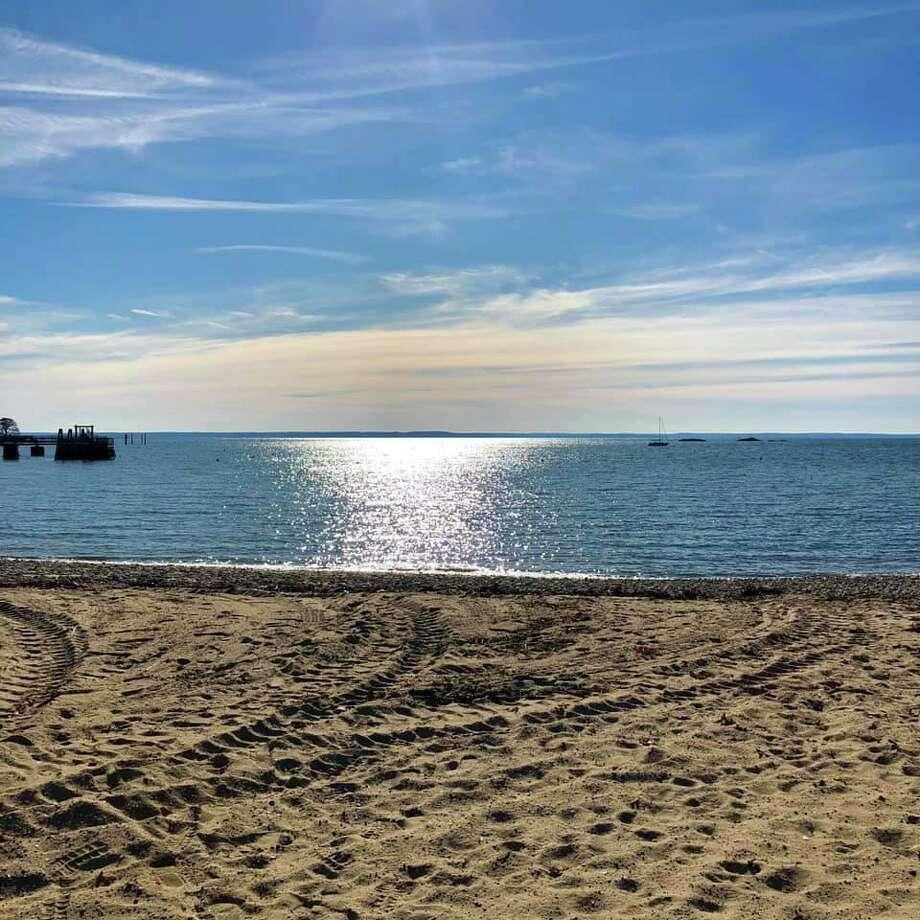 Darien resident Will Lewis caught this view on a run at Pear Tree Point Beach. Keep it looking this clean by following the carry-in, carry-out trash policy in place. Photo: Will Lewis /