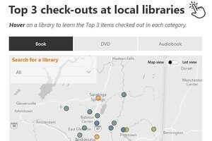 Explore an interactive of The Times Union Library Check List showing the most popular books, audiobooks and DVDs checked out at Capital Region libraries.