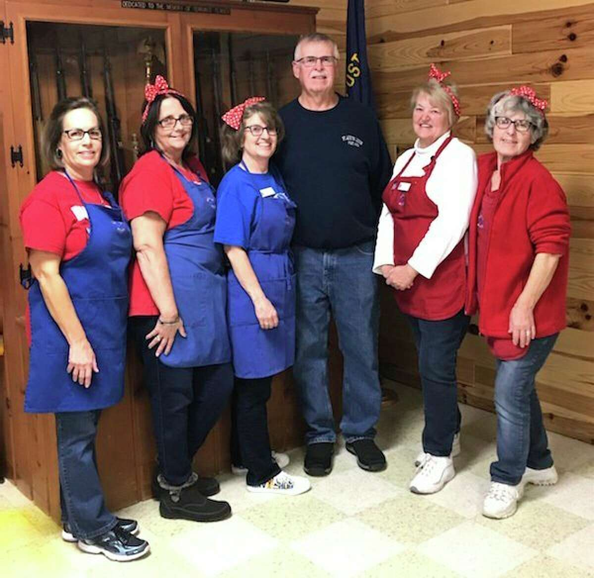 American Legion Commander Don Schramski presented a donation from American Legion Post 499 to the Thumb Chapter MI-178 Blue Star Mothers in November. Pictured are Deb Decker, Sherry Kramer, Chapter President Marcia Janik, Don Schramski Commander of American Legion Post 499, Lynne Tschirhart and Grace Rosenthal. (Submitted Photo)