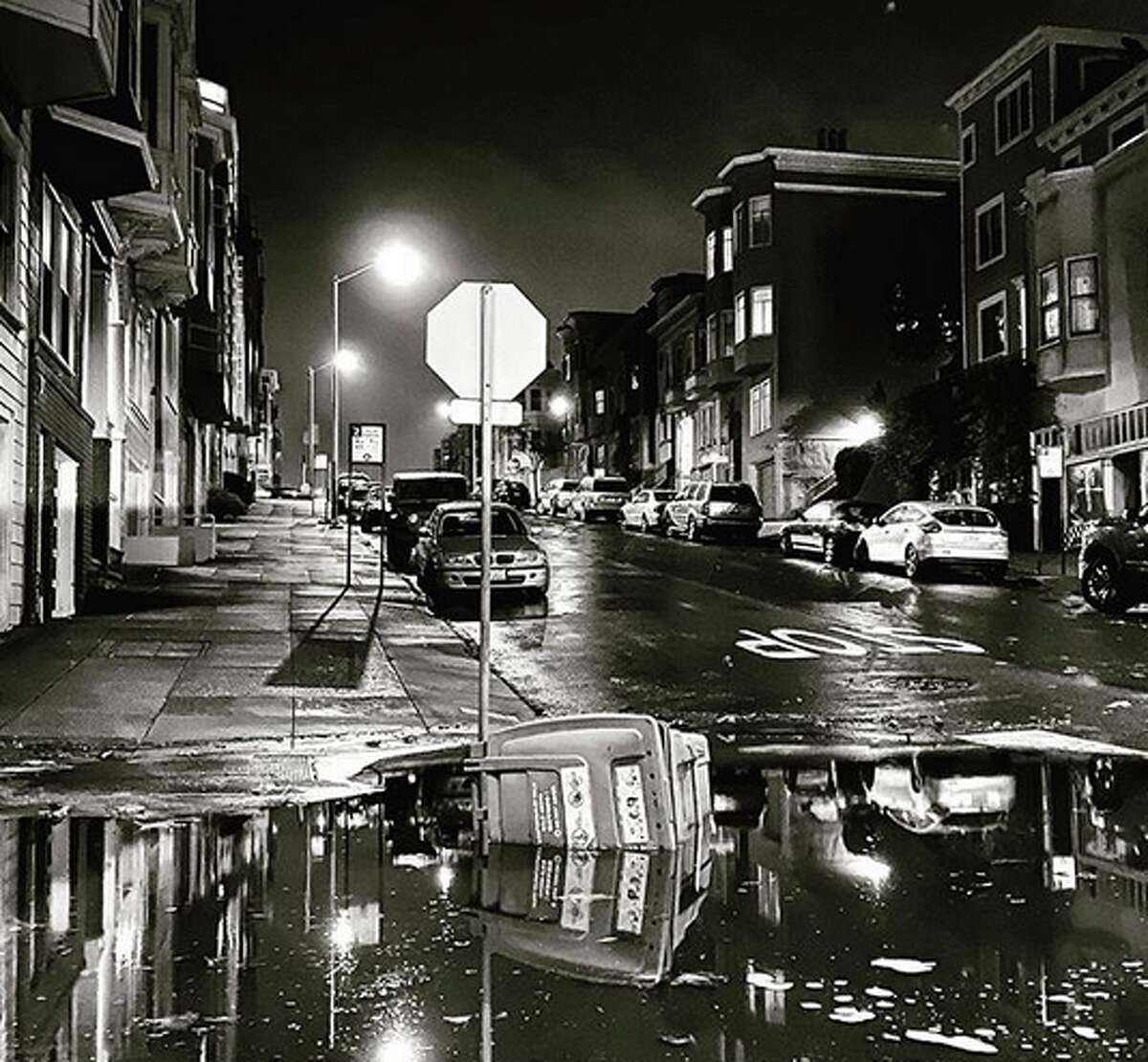 Street flooding in North Beach from the rainstorm that swept the region on Tuesday night, Nov. 26, 2019.