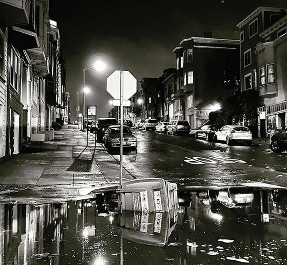 Street flooding in North Beach from the rainstorm that swept the region on Tuesday night, Nov. 26, 2019. Photo: Chris Fato, Instagram / @chrisfato