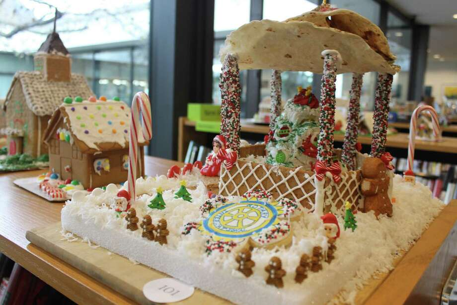 The Wilton Rotary Club entered its depiction of the gazebo in Wilton Center in last year's How Sweet It Is in Wilton gingerbread contest at Wilton Library. Photo: Contributed Photo / Wilton Library / Wilton Bulletin Contributed