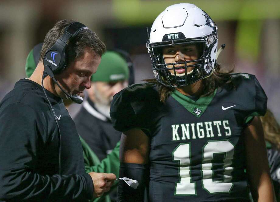 Clear Falls football coach Zach Head says excitement is building within the Knights' staff about summer conditioning beginning on June 8. Photo: Thomas B. Shea, Contract Photographer / For The Chronicle / © 2019 Thomas B. Shea