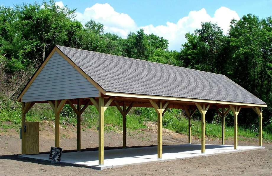 SPECTRUM/A pavilion available for public use is now ready at Carlson's Grove, a town park in the Northville district of New Milford. Courtesy of New Milford Parks & Recreation Photo: ST