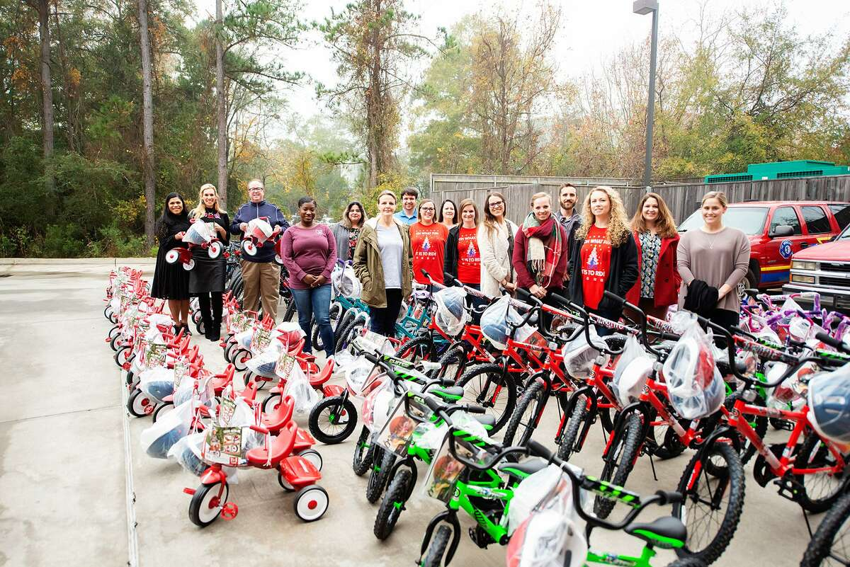 Waste Connections helps Interfaith spread some cheer each year with donations of bicycles for the annual toy drive.