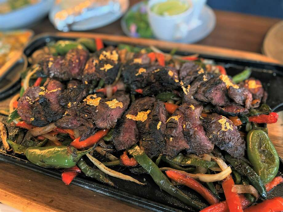 The Millionaire Fajitas at Guard and Grace steakhouse downtown are $400. Photo: Marcy De Luna