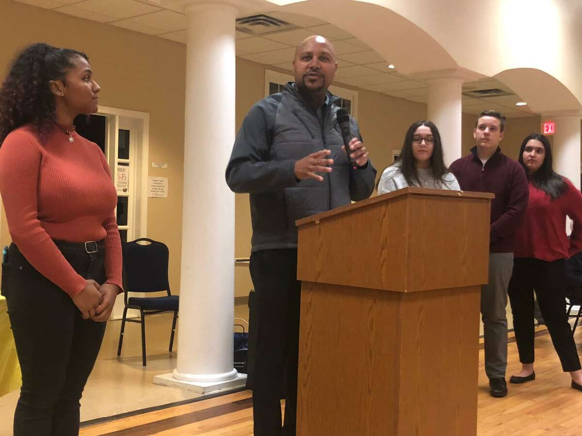 Shelton Police Chief Shawn Sequeira was an honored guest at the 38th annual Thanksgiving Turkey Dinner Monday, Nov. 25, hosted by the Boys & Girls Club of Lower Naugatuck Valley's Keystone Club.