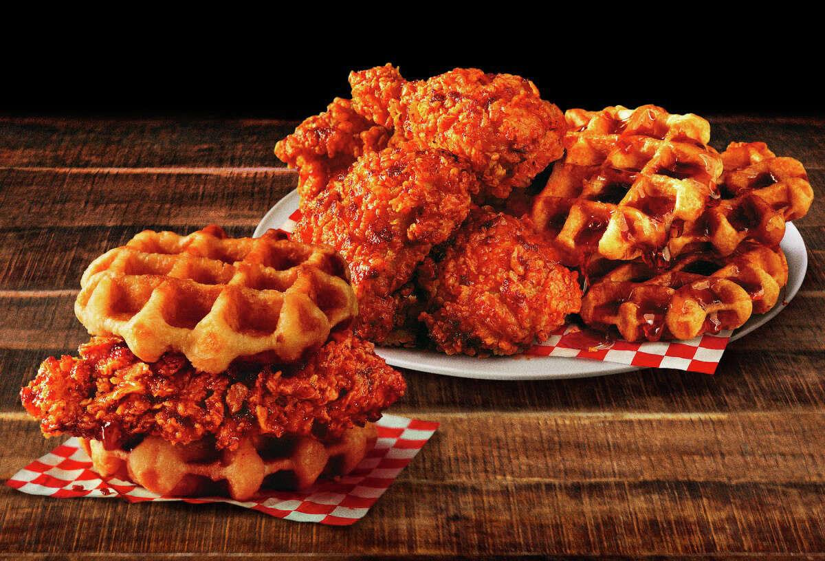 KFC's Nashville chicken and waffles.