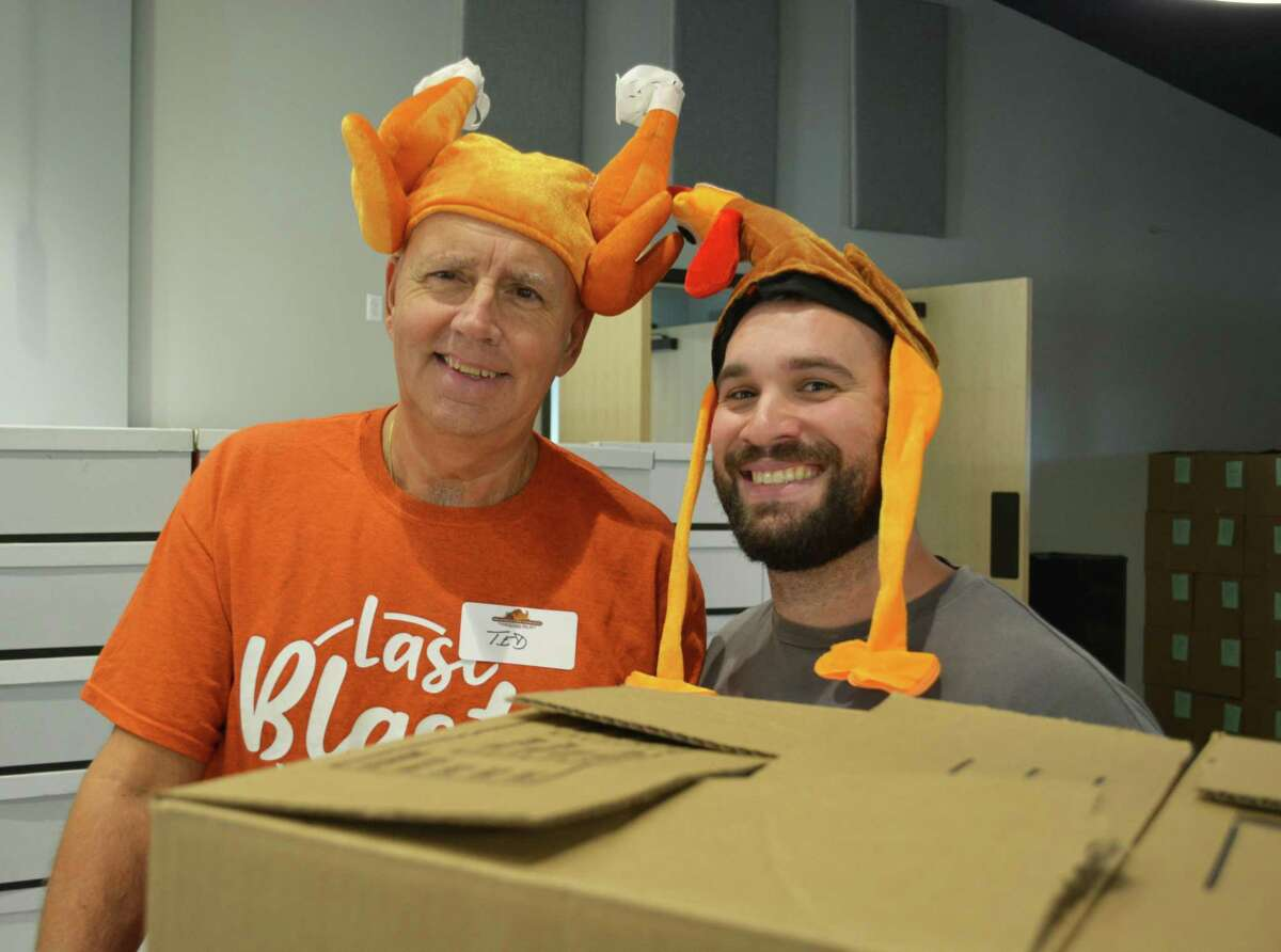The Middletown Community Thanksgiving Project coordinates hundreds of volunteers from throughout the area to assemble 1,000 boxes filled with ingredients to make a traditional Thanksgiving Day meal. Volunteers are shown during last year's event at Fellowship Church.