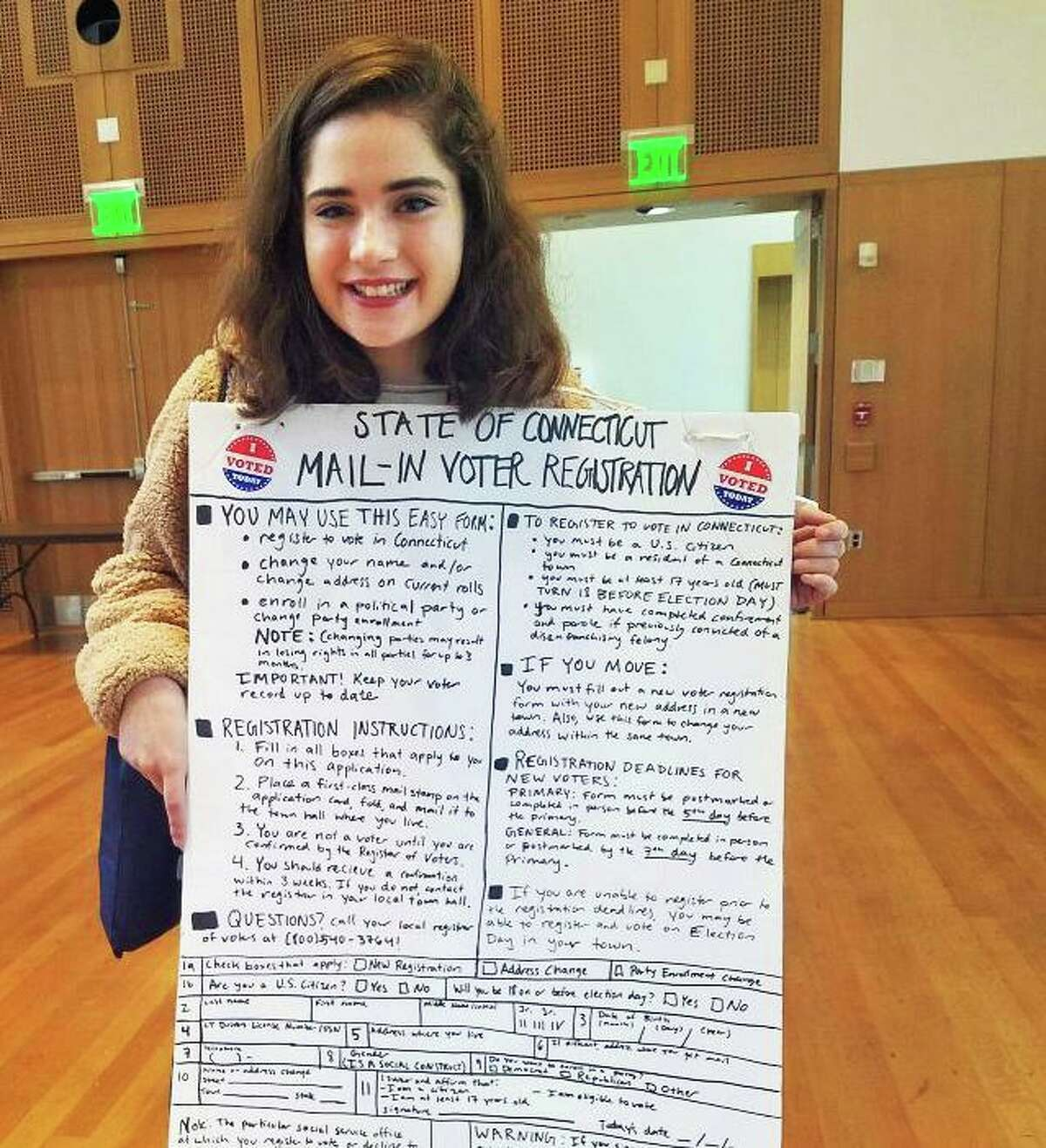At the 2019 ALL IN Challenge Awards Ceremony, Wesleyan University received a gold seal for achieving a student voting turnout rate of between 40 and 49 percent. Student Katelin Penner played a large role in getting out the vote efforts, according to university officials.