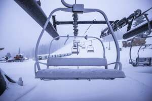 Squaw Valley and Alpine Meadows received  12 inches at the base and 18 inches on the upper mountains at both so far from the first significant winter storm of the season.