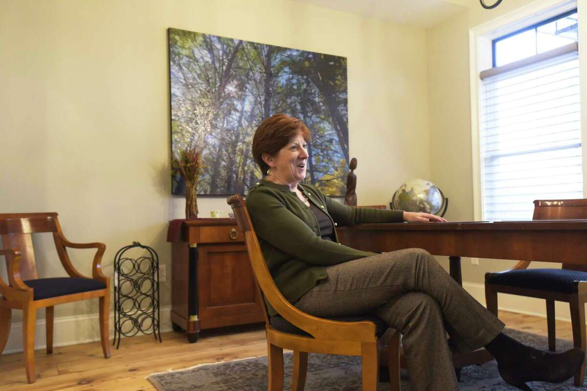 Mayor Kathy Sheehan inside her home in the Ten Broeck Triangle neighborhood on Wednesday, Nov. 20, 2019, in Albany, N.Y. (Paul Buckowski/Times Union)