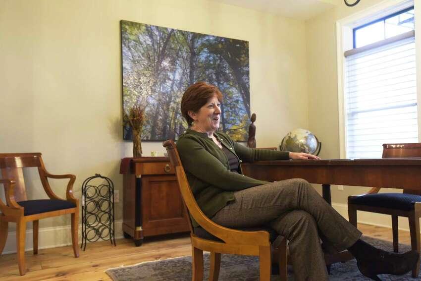 Mayor Kathy Sheehan inside her home in the Ten Broeck Triangle neighborhood on Wednesday, Nov. 20, 2019, in Albany, N.Y. (Paul Buckowski/Times Union)