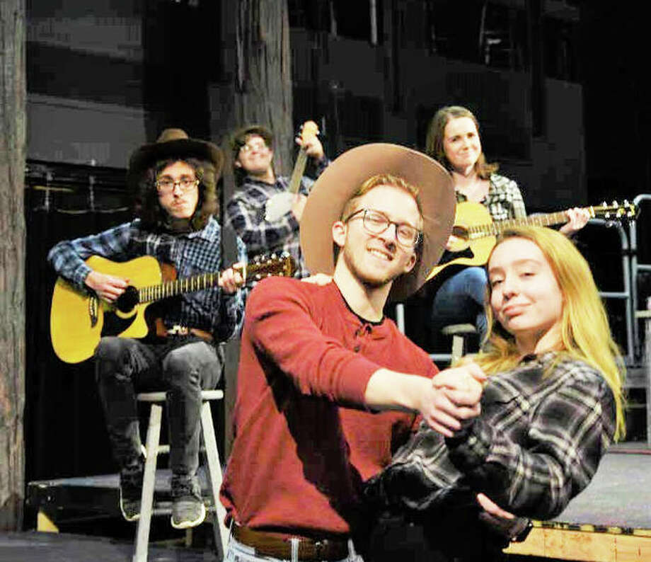 SIUE actors featured are Mitchell George, Joseph Hardy, Claire Holliday, Tucker Greer and Brooke Holzem. Photo: Photo By James Wulfsong | For The Telegraph
