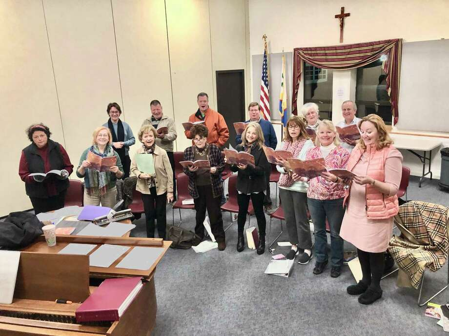 Our Lady of Fatima's Adult Choir practices for its annual Advent concert on Dec. 15. Photo: Contributed Photo / Our Lady Of Fatima Church / Wilton Bulletin Contributed