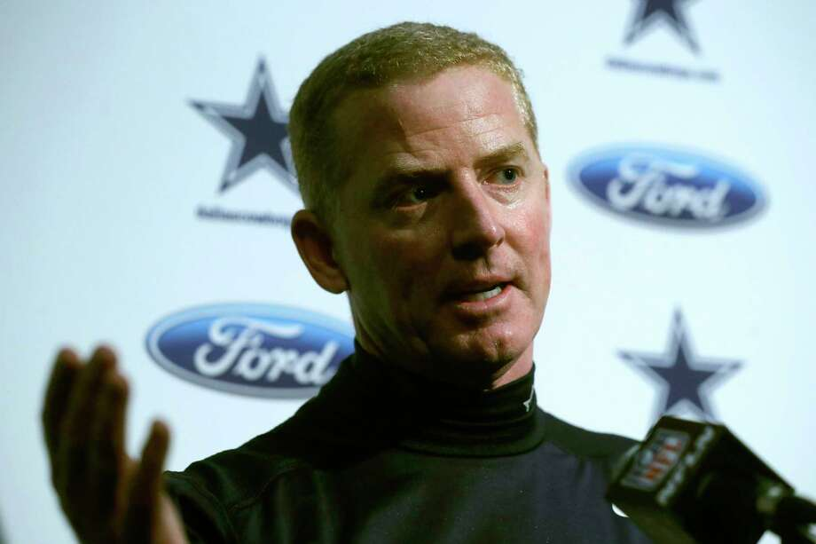 Dallas Cowboys head coach Jason Garrett speaks to the media following a loss to the New England Patriots. A reader defends Garrett, but Thursday's loss to Buffalo isn't helping. Photo: Steven Senne /Associated Press / Copyright 2019 The Associated Press. All rights reserved